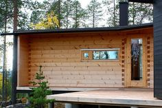 Front Wall Design from Creative Wooden Villa with Modern Idea in Lapland Finland Lappland, Wood Architecture, Residential Architecture, Gable Wall, Front Wall Design, Timber Structure, Building Systems, Luxury Villa, Log Homes