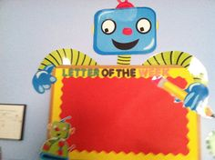 Robot themed classroom