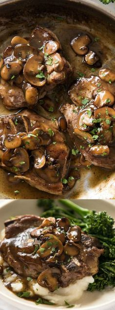 These Honey Glazed Pork Chops with Mushrooms from Spend With Pennies make an amazing meal that is on the table in under 30 minutes! A delicious, earthy sauce smothers tender mushrooms and pork!