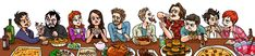 It's a bit early but here's Supernatural characters having thanksgiving dinner together