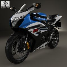 Suzuki GSX-R1000 2014 3d model from Humster3D.com