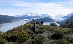 Viewing the Grey Glacier in the spectacular Torres del Paine, Chile