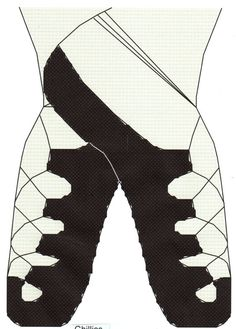 Irish Ghillies Dance Shoes counted Cross Stitch Pattern by gotttwo, $3.40