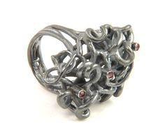 Georg Dobler - FlourishRing in silver and 18ct gold with rubies 1134£