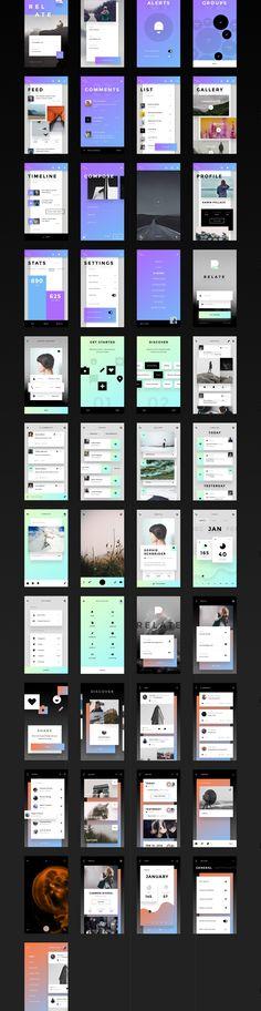 무료 UI 키트 : | Invision에 의해 연관 Abduzeedo