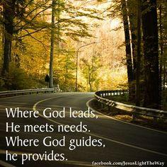 God will provide...........