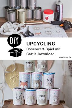 Doing crafts with children - lots of nice instructions and ideas Whether scrap robot, fo . Papier Kind, Ikea Boxes, Wedding Activities, Crafts To Do, Kids Playing, Stampin Up, Upcycle, Christmas Crafts, Scrap