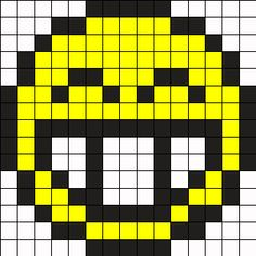 Happy Face Perler Bead Pattern / Bead Sprite
