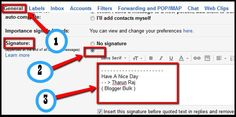 How to add default signature in Gmail Online Income, Blogger Templates, You Changed, Ads, Learning, Study, Teaching, Studying, Education