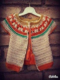 Crochet Dress Girl, Baby Girl Crochet, Crochet Baby Clothes, Crochet Woman, Crochet Cardigan, Baby Cardigan, Crochet Diy, Crochet For Kids, Baby Knitting Patterns