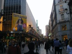 Outdoor shopping.  Madrid, Spain.