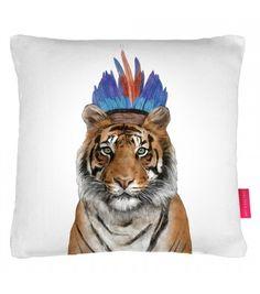Coussin Artemis - Tigre indien à plumes - Vu dans la Maison France 5