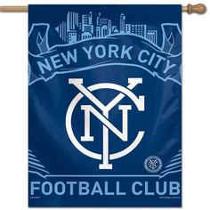 New York City Football Club Decorative House Flag, Multicolor New York City Fc, New City, Soccer Flags, Major League Soccer, Everyone Knows, Banner, News, Squad, Age