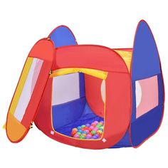 Portable Kid Play House Toy Tent with 100 Balls Mesh Windows Pop-up Design Childrens Outdoor Toys, Ball Pit Tent, Baby Play House, Kids Castle, Kids Play Kitchen, Kids Tents, Simple Bags, Creative Play, Toys For Girls