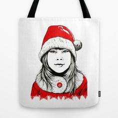 Snow-maiden Tote Bag by Maria Bozina - $22.00