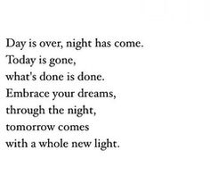 Tomorrow comes with a whole new light ✨
