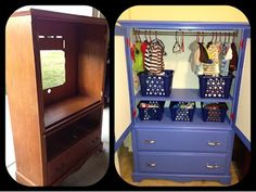 Before and After TV Armoire Redo!