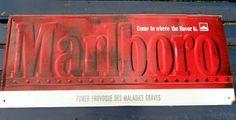 Franse vintage Marlboro metalen teken
