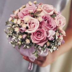 Pink bouquet from www.wedding-flowers-and-reception-ideas.com