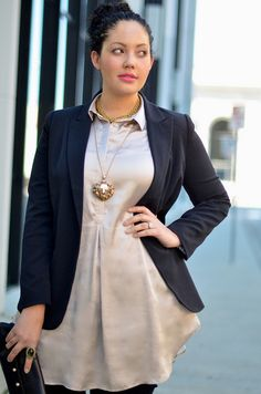 Sophistication with a Twist: I find that this empire waist tunic silhouette is flattering for most body types!