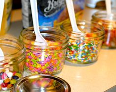 Ice Cream Bar at Garden Birthday Party Ice Cream Toppings, Ice Cream Recipes, Graduation Open Houses, Garden Birthday, Animal Party, Party Animals, Ice Cream Social, Icecream Bar, Ice Cream Party