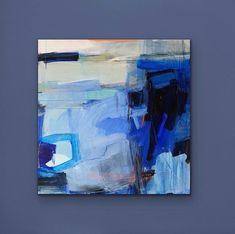 Extra large blue abstract painting, modern acrylic art, original abstract art, texture painting Blue Abstract Painting, Abstract Canvas Art, Abstract Paintings, Oil Paintings, Decoration, Modern Art, Blue Texture, Texture Art, Painted Canvas