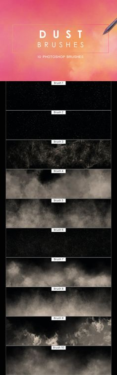 10 Dust Photoshop Brushes Photoshop Brushes, Print Templates, Game Design, Card Templates Printable