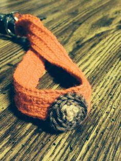 Buckeye wristlet keychain by RMbowers on Etsy