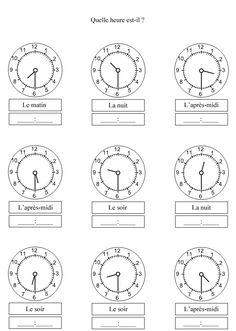 Apprendre à lire l'heure ; demi-heure
