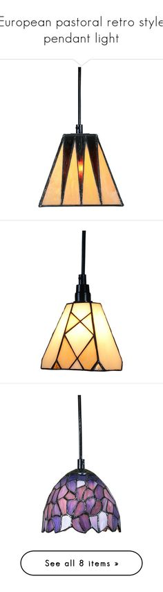 """European pastoral retro style pendant light"" by homelava ❤ liked on Polyvore featuring home, lighting, ceiling lights, array0x1ef3dd30, retro ceiling lights, retro lighting, euro lighting, european lighting, retro hanging lamp and array0x10d299c0"