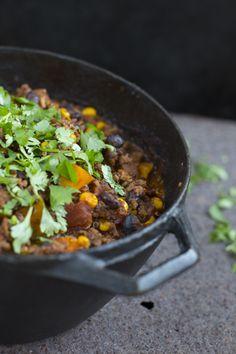 Muheva ja mausteinen kvinoachili lämmittää.