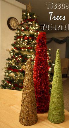 Tissue Christmas Trees