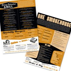 Menu Design & Print for Gibsons Bar in York. Quirky & Fun!! by Kelle Liddle