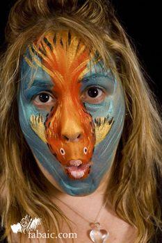 Gold fish facepaint