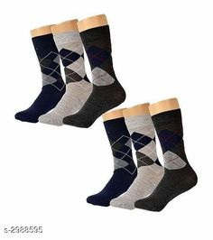 Checkout this latest Socks Product Name: *Comfy Men's Cotton Socks combo* Fabric: Cotton Blend Type: Regular Pattern: Argyle Multipack: 6 Sizes: Free Size Easy Returns Available In Case Of Any Issue   Catalog Rating: ★4.2 (291)  Catalog Name: Yorker Comfy Men'S Cotton Socks Combo Vol 7 CatalogID_407856 C65-SC1240 Code: 812-2988595-864