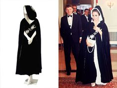 SCORPIO EVENING CAPE  Estimated value $2,000 - $3,000  Elizabeth Taylor wore this black velvet Tiziani cape to Grace Kelly's 40th birthday party in Monaco in 1969 – it was Scorpio-themed because of the princess's birth sign. Though Taylor was a Pisces, she was invited as the wife of Richard Burton, also a Scorpio. Karl Lagerfeld, now Chanel's creative director, was Tiziani's freelance designer at the time, and may have created this piece.