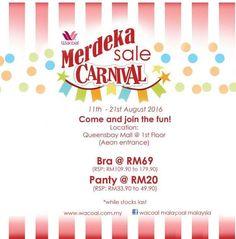 11-21 Aug 2016: AEON Wacoal Merdeka Sale Carnival