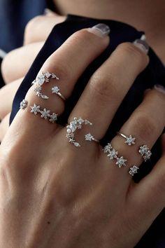 Rue Gembon Loren Silver Ring Set #SterlingSilverMoon
