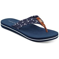 85b4b2a2053b Tommy Hilfiger Women s Cafe Anchors Flip-Flop Sandals ( 25) ❤ liked on  Polyvore