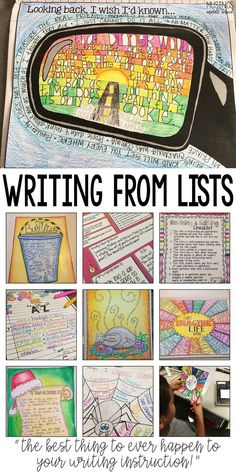 Art therapy activities writing List writing is sure to motivate even your most reluctant writers! 3rd Grade Writing, Middle School Writing, Writing Classes, Middle School English, Writing Lessons, Writing Process, Poetry Lessons, Art Lessons, Middle School Health