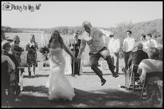 Creative ways to exit your wedding ceremony Jumping for Joy on your wedding day