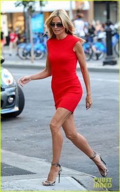Heidi Klum is Red Hot in SoHo Before 'America's Got Talent'