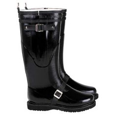 Motorcycle Rainboot Tall Black, $199, now featured on Fab.