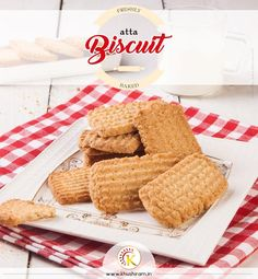 Crunchiest & healthy ever! Atta Biscuits are popular tea time cookies.They are crispy, egg-less, made of durum whole wheat and often enjoyed with chai ! ☕ :) #Atta #biscuit #wheat #food #tasty #healthy #vegeterian #nature #food #pure #natural #freshly-baked at Khushirams For trade inquiry call at :9878985345,9878942569 www.khushiram.in