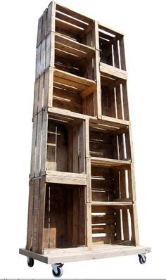 Rustic Merchandise Display Ideas | Retail Fixtures- Rustic Apple Crate Display Unit Available at: www.wbc ...