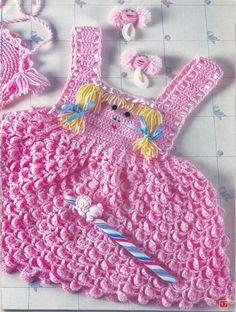 #Pink #Dress free #crochet graph #pattern #baby