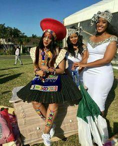 Zulu Traditional Wedding Attire For Bride Zulu Traditional Wedding Dresses, South African Traditional Dresses, African Traditional Wedding, Traditional Weddings, Venda Traditional Attire, Traditional Outfits, African Formal Dress, African Dress, African Wedding Attire