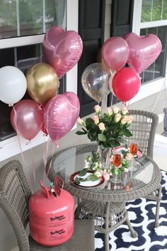 Looking for a sweet way to celebrate your sweetie? 💞 We love this simple, balloon dinner for two! Where To Buy Balloons, Cherry Blossom Wedding, Sweetest Day, Baby Party, Best Part Of Me, Birthday Parties, Party Ideas, Valentines, Dinner