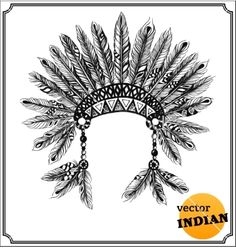American indian chief headdress vector 1939949 - by borsvelka on VectorStock®