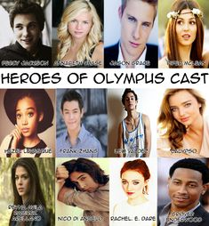 heroes of olympus dream cast - Google Search